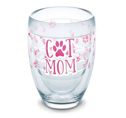 Cat Mom Stemless Tervis Wine Glass