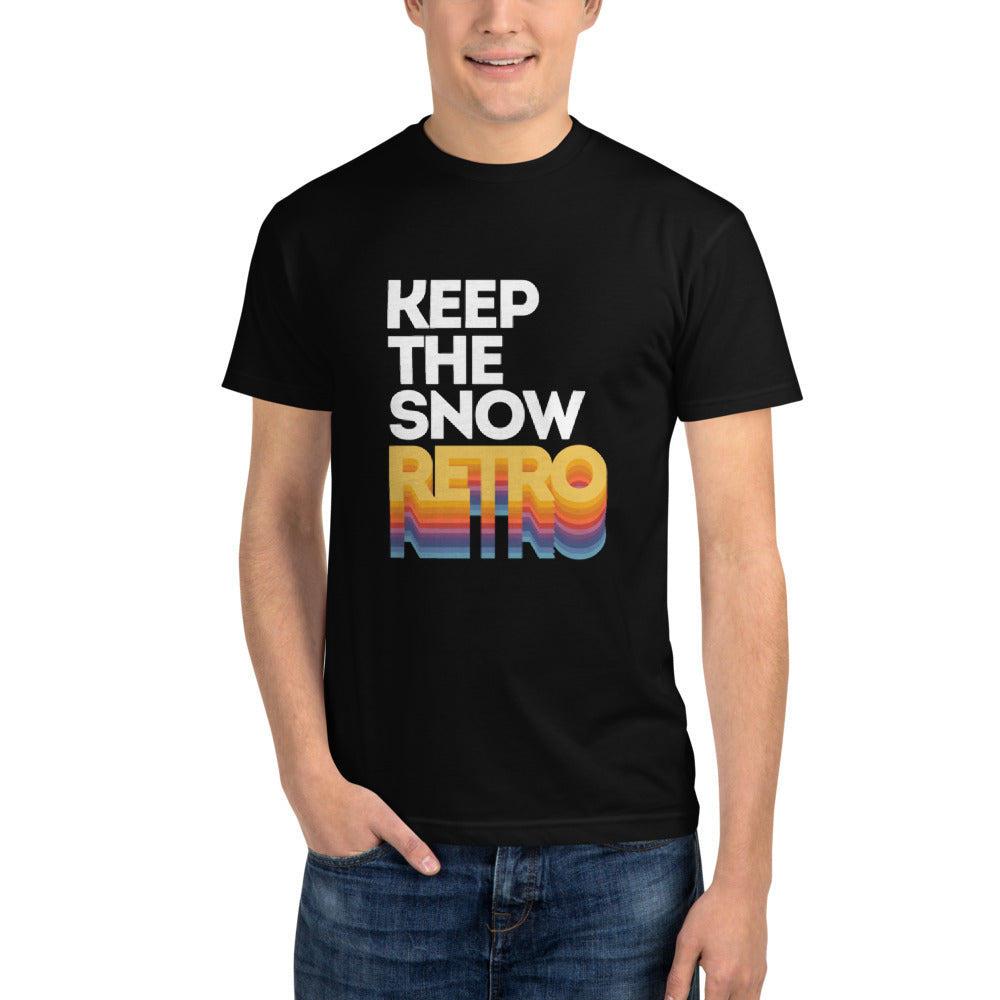 Keep the Snow Retro Recycled T-Shirt