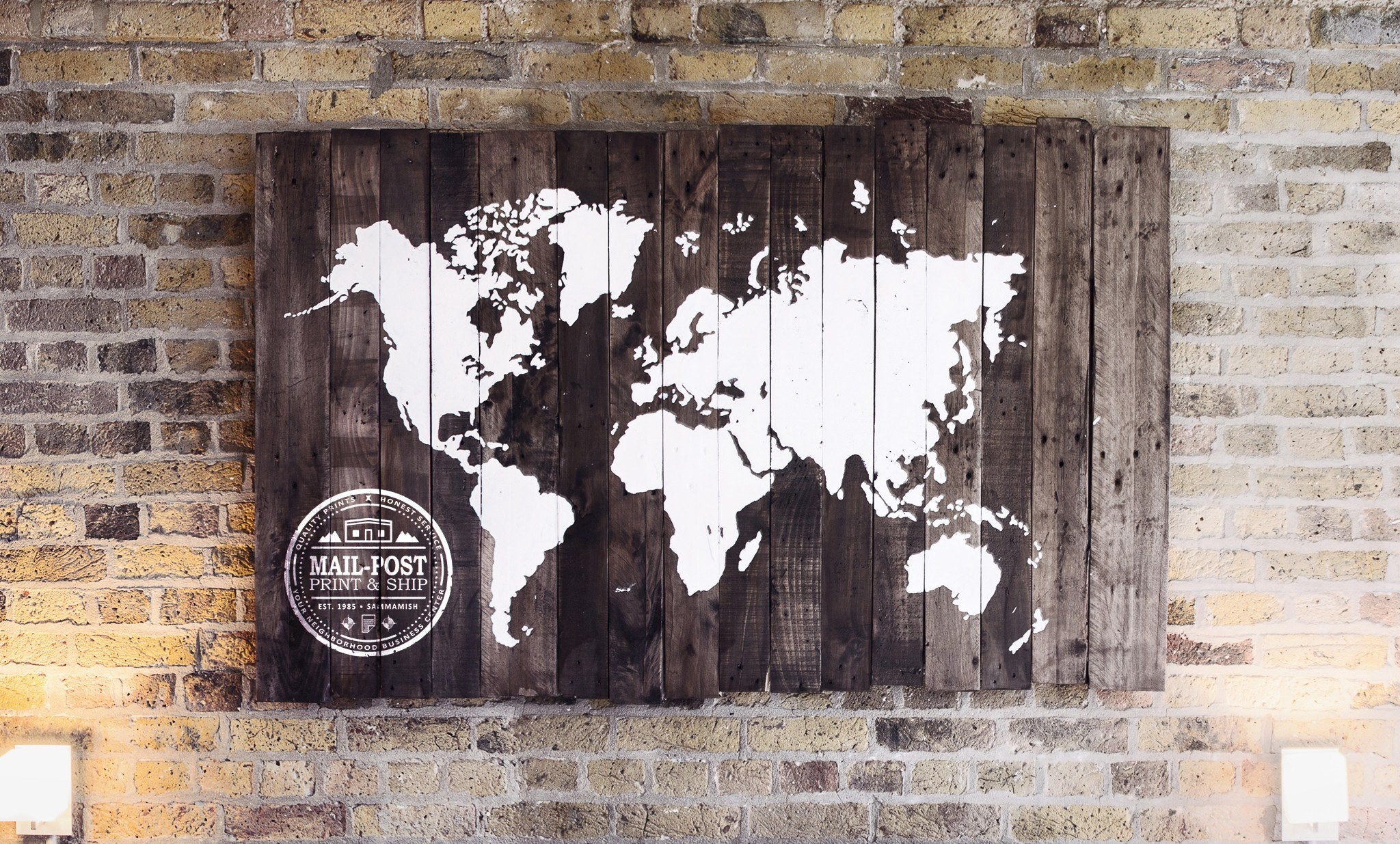 Rustic reclaimed wood sign world map salter creek designs world map wood sign salter creek designs gumiabroncs Image collections