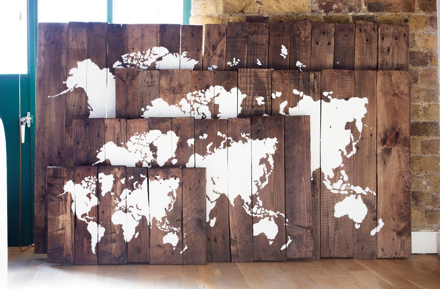 Rustic reclaimed wood sign world map pacific ocean centered world map wood sign pacific ocean centered salter creek designs gumiabroncs Gallery
