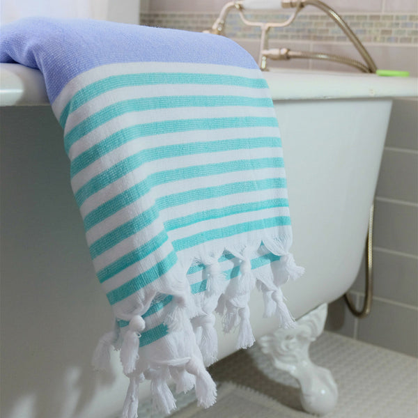 Carrabean Terry Active Towel from Bluestone Imports, flat woven turkish towel ideal for outdoors, travel, kids and gym