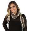 Twist Scarf - Charcoal with Red Stripe - The Active Towel by® Bluestone Imports