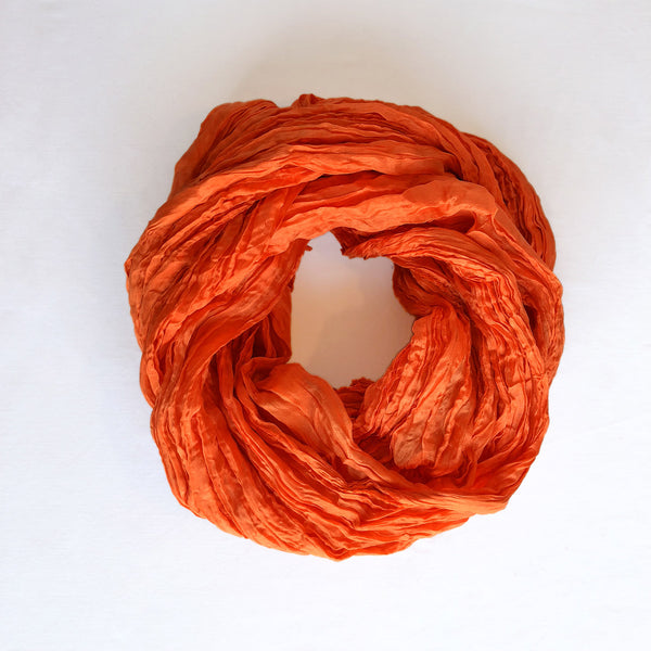 Handmade Silk Scarf - Deep Orange - The Active Towel by® Bluestone Imports