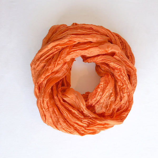 Handmade Silk Scarf - Light Orange - The Active Towel by® Bluestone Imports