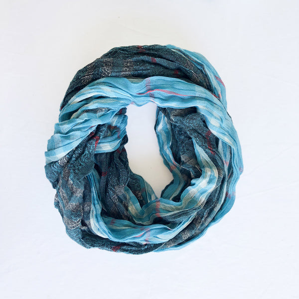 Twist Scarf - Turquoise Cotton - The Active Towel by® Bluestone Imports