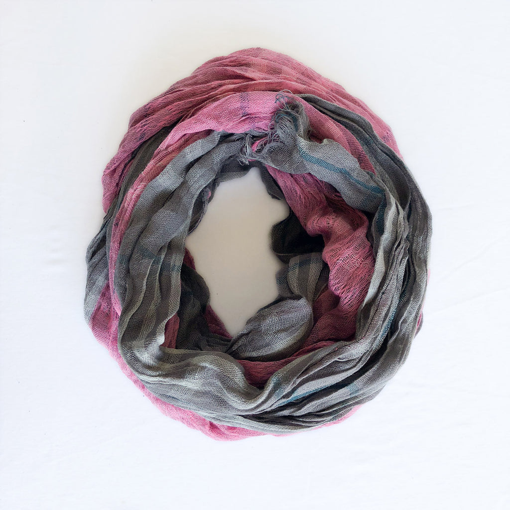 Twist Scarf - Charcoal Cream Cotton - The Active Towel by® Bluestone Imports
