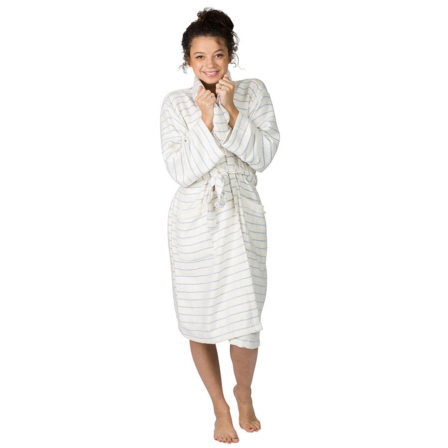 Monterey Blue Bamboo Robe ~ Ideal for Home, Spa, Travel, Resort