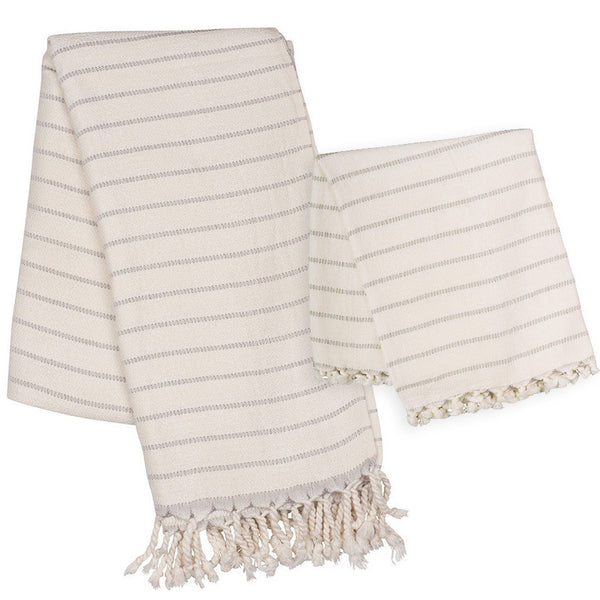 Monterey Bamboo Towel Set from Bluestone Imports, flat woven turkish towel ideal for outdoors, travel, kids and gym