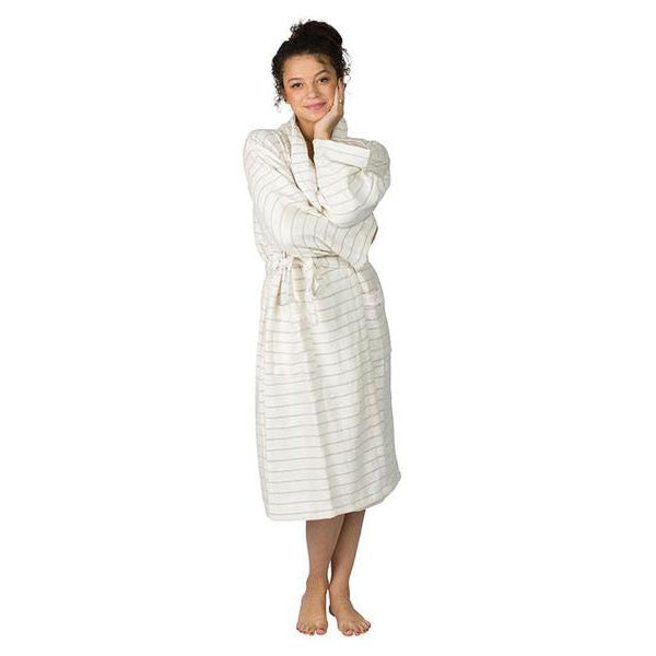 Monterey Gray Bamboo Robe ~ Ideal for Home, Spa, Travel, Resort