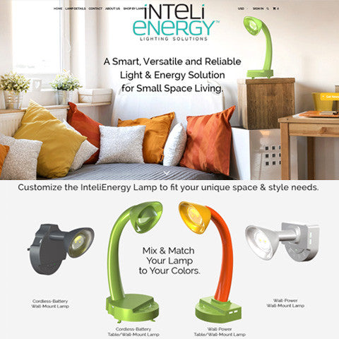 InteliEnergy Lamp for Small-Space Living — Now Shipping