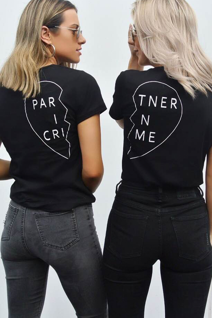Black Partner in Crime Tee- Right