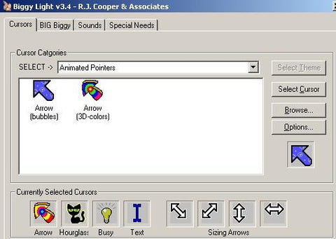 Biggy (cursor enhancer...on 'steroids'! ;-) & Biggy-Light (both for all Windows) - RJ Cooper & Associates, Inc.