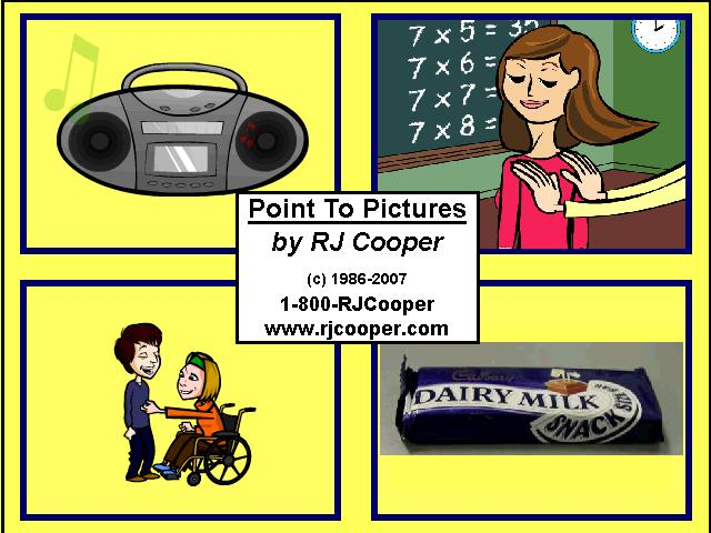 Point To Pictures (early communication, vocab. building, match text to pics, and sequencing!) - RJ Cooper & Associates, Inc.