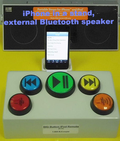 BIG Button Music Remote - Bluetooth