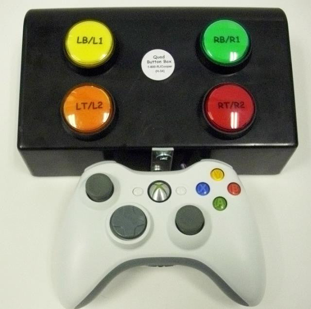 Quad Button Box w/XBox 360 or PS3 Game Controller