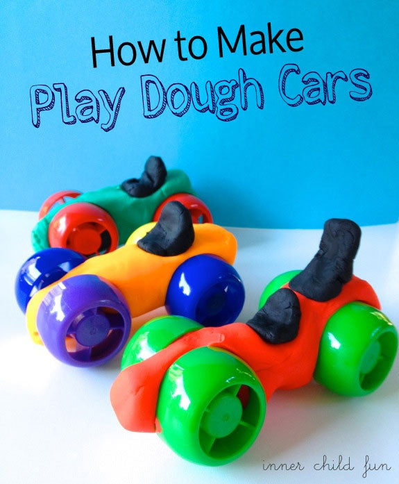 Food pouch cap play dough cars