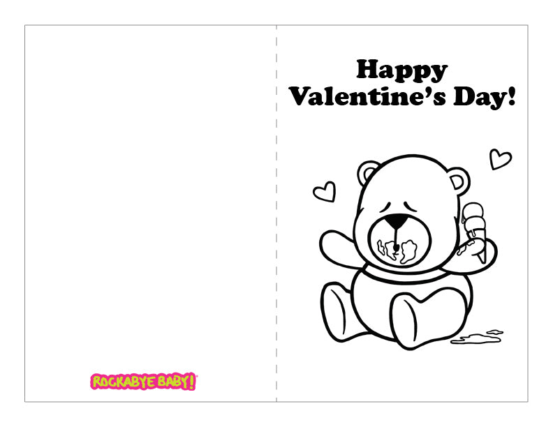 graphic relating to Printable Valentines Black and White titled Printable Valentines Working day Playing cards Rockabye Little one!