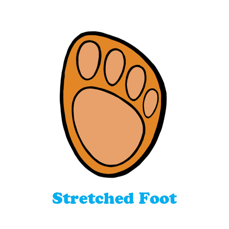 strecthed foot