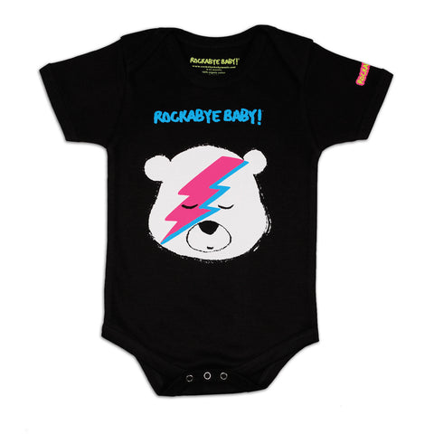 "Organic Baby Bodysuit (""Lullaby Renditions of David Bowie"" Album Art on Black or White)"