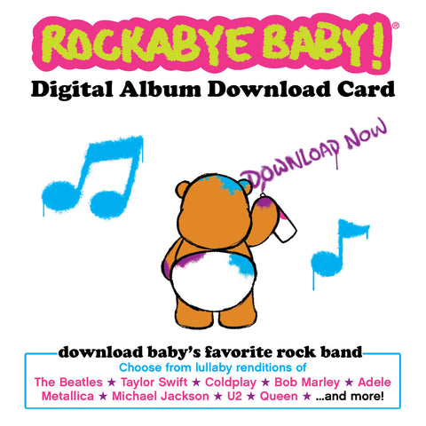 rockabye baby digital album download card