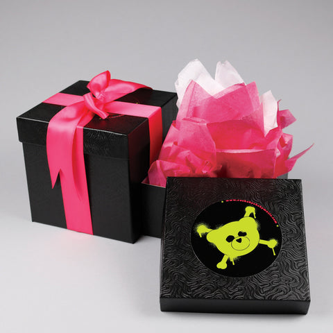 rockabye baby gift bag black pink