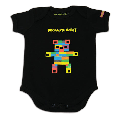rockabye baby coldplay organic bodysuit black