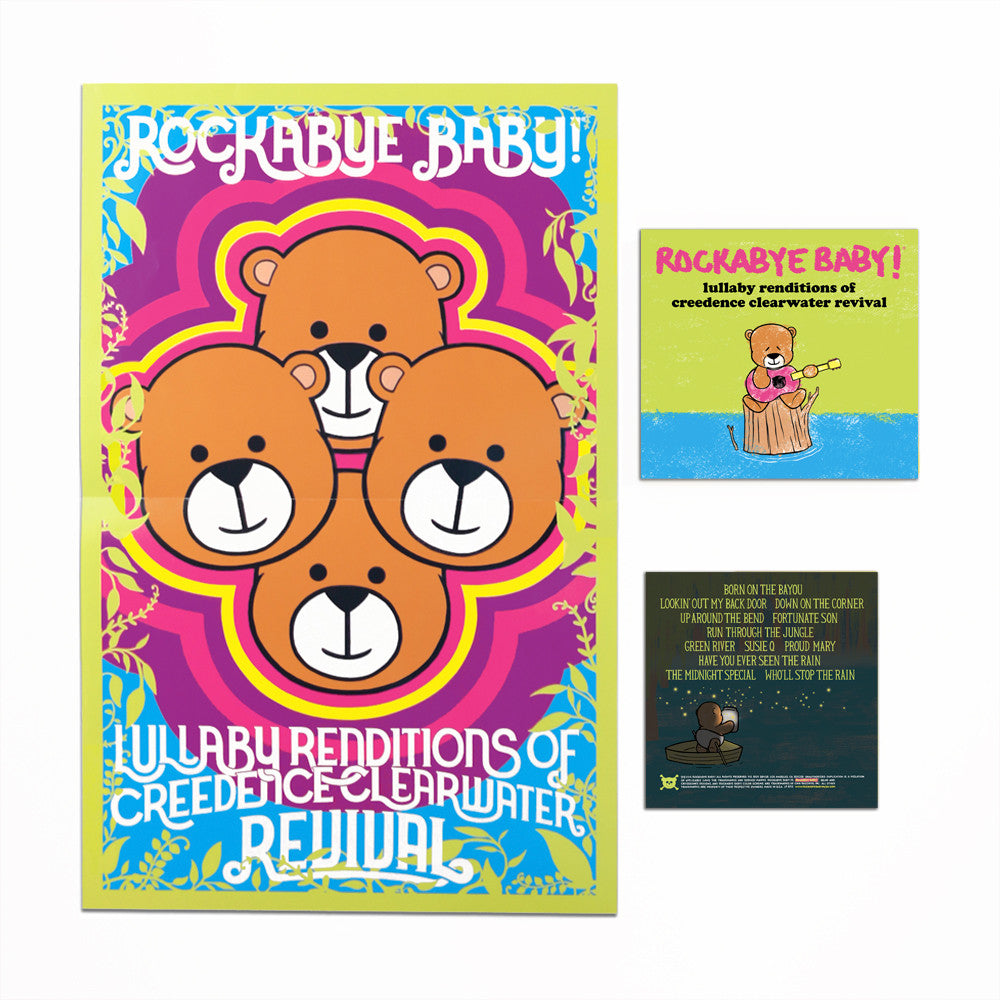 rockabye baby lullaby renditions creedence clearwater revivial ccr cd poster