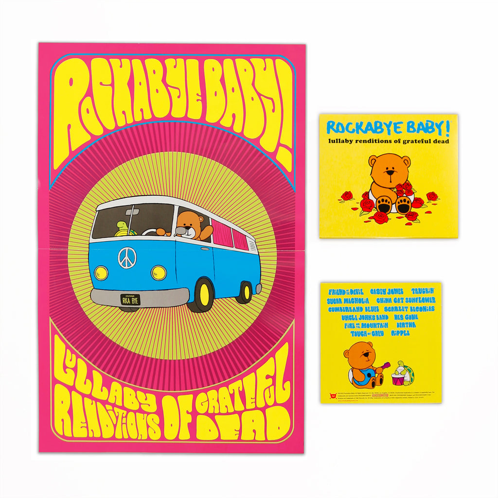 rockabye baby lullaby renditions grateful dead cd poster