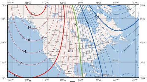 NA Magnetic Declination