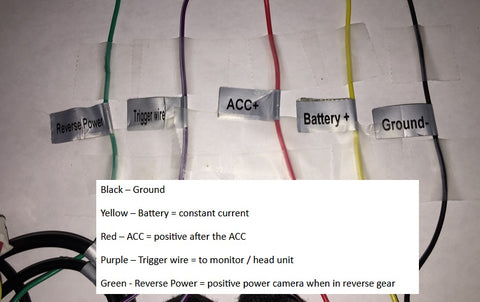 VT-BP3 Wire Color Code