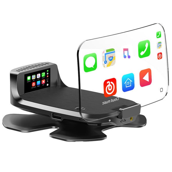 BOYO VTHUDpro - Head Up Display for Car, Truck or Van - iOS CarPlay and Android Auto (Plug and Play) compatible