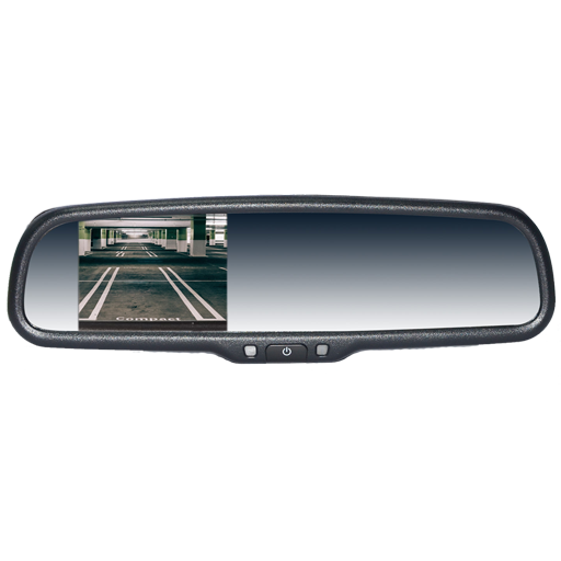 "BOYO VTM35M - Replacement Rear-View Mirror with 3.5"" TFT-LCD Backup Camera Monitor"