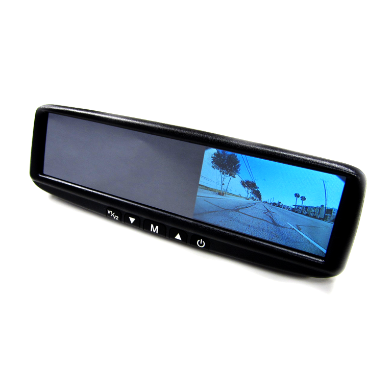 "BOYO VTB44M - Replacement or Clip-on Rear-View Mirror with 4.3"" TFT-LCD Backup Camera Monitor"