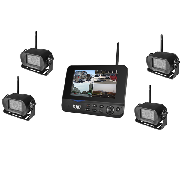 "BOYO VTC700RQ-4 - Digital Wireless 4 Camera DVR System with 7"" Monitor for Car, Truck, SUV and Van (4-Channel System)"