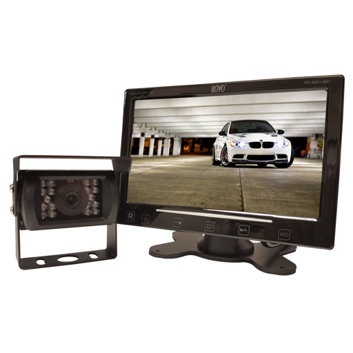 "BOYO VTC307M - Vehicle Backup Camera System with 7"" Monitor and Heavy-Duty Backup Camera for Car, Truck, SUV and Van"