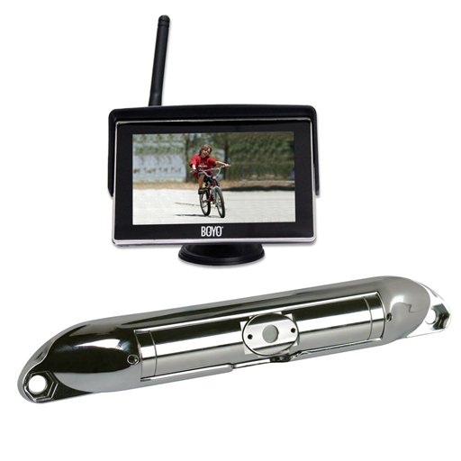 VTC404R :  Wireless Rear View Camera System (Chrome Camera)