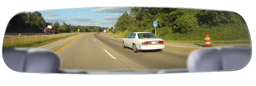 "BOYO VTM43FL - Frameless Replacement Rear-View Mirror with 4.3"" TFT-LCD Backup Camera Monitor"