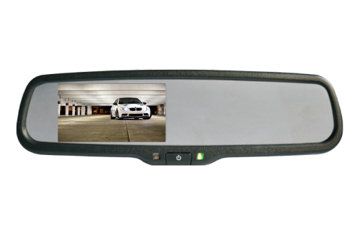 "BOYO VTM43ME - Replacement Rear-View Mirror with 4.3"" TFT-LCD Backup Camera Monitor"