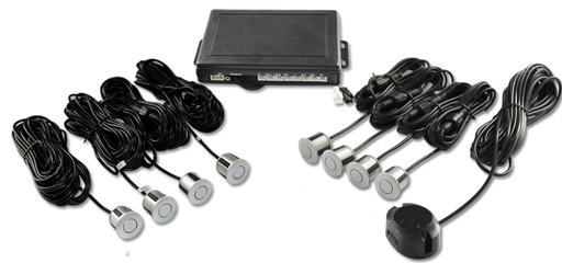 BOYO VTSR200 - Rear Parking Assist System with 8 Parking Sensors (Silver)