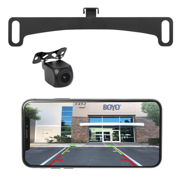 BOYO VTX400W - WI-FI Wireless Universal Mount  Backup Camera, Viewable through Smartphone (works with iOS and Android)