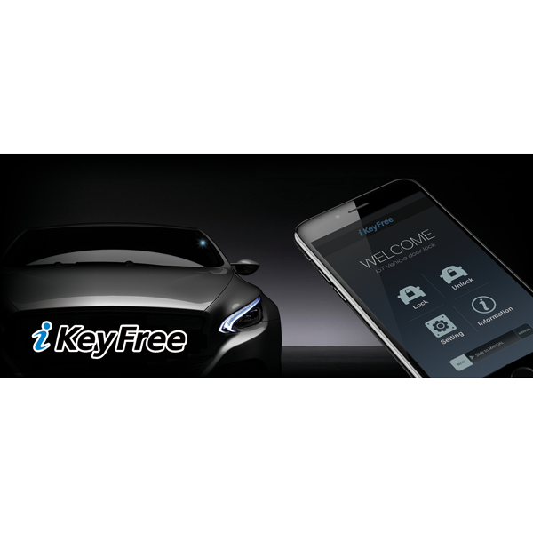 BOYO iKeyFree - Smart Keyless Entry System via Smartphone for your Vehicle (iOS & Android Compatible)