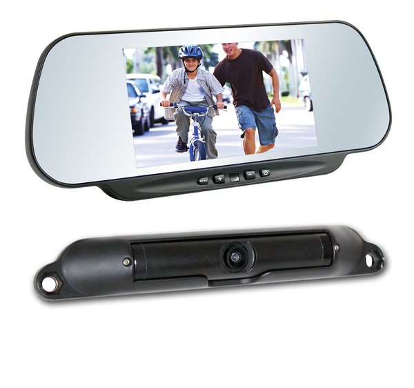 "BOYO VTC464RB - Wireless Vehicle Backup Camera System with 6"" Rear-View Mirror Monitor and Bar-Type License Plate Backup Camera for Car, Truck, SUV and Van"