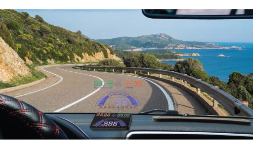 "VTHUD7 : 5.8"" Head Up Display"