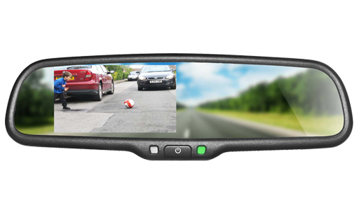 BOYO VTM43M - Replacement Rear-View Mirror with 4.3