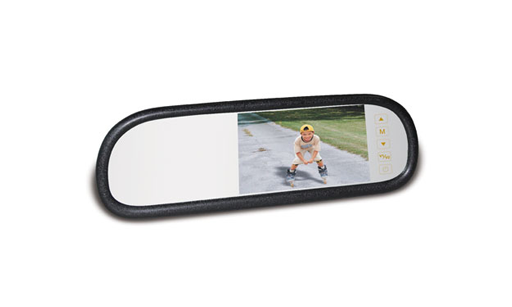 "BOYO VTM50M - Replacement or Clip-on Rear-View Mirror with 5"" TFT-LCD Backup Camera Monitor and Wi-Fi Miracast™"