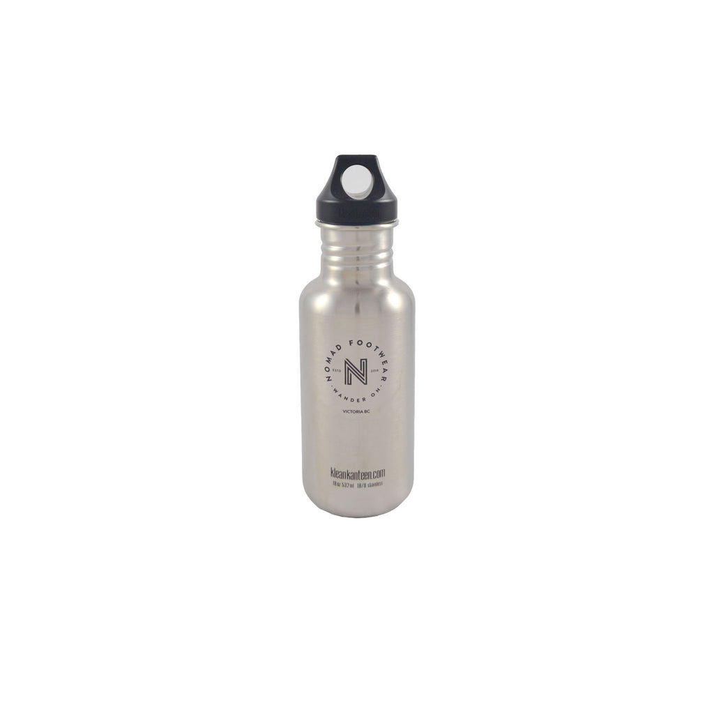 KLEAN KANTEEN 18oz LOOP WATER BOTTLE STAINLESS