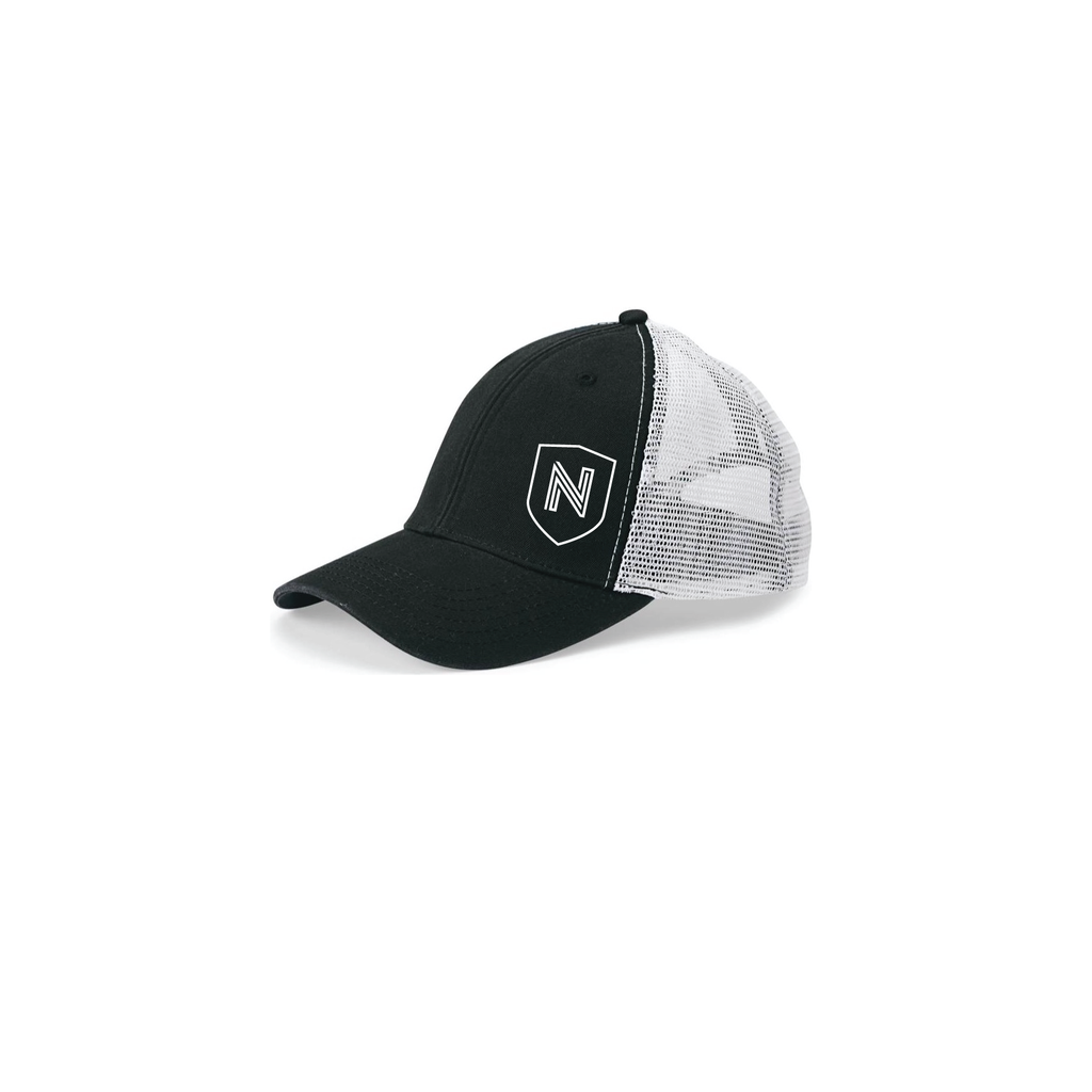 NOMAD TECHNICAL TRUCKER HAT - BLACK/WHITE