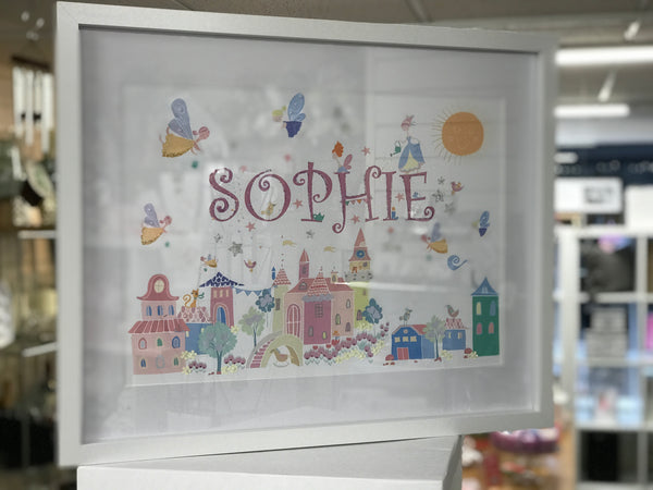 Personalised hand finished Fairy Tale Framed Prints