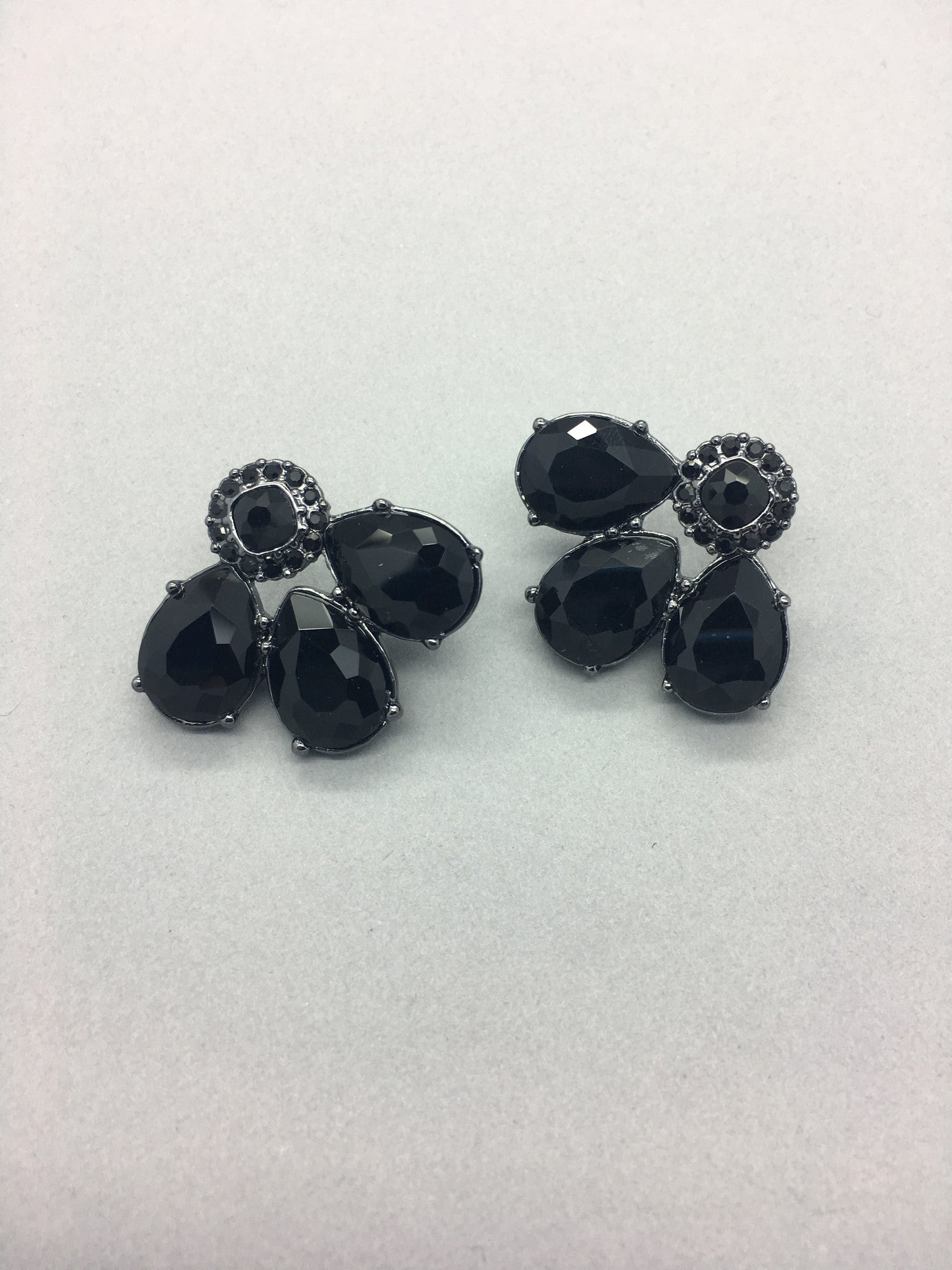 Crystal Fan Stud Earrings