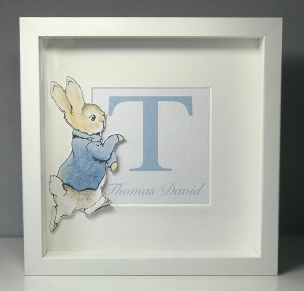 Personalised Peter Rabbit 23 x 23 Frame